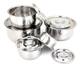 Harga Freemarket Set of 5 High Quality Stainless Steel Multipurpose Conditioning Pot Stock Pot