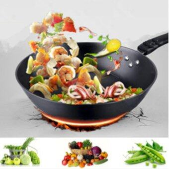 Harga Freemarket 32cm High Quality Smooth Surface Extra Non-Stick Star Frying Cooking Wok Pan
