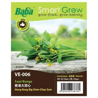Harga Baba Smart Grow Seeds VE-006 Hong Kong Big Stem Choy Sum (Sawi Bunga) ±10G