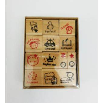 Harga Wooden Fancy Teacher Rubber Stamp (English) 15s