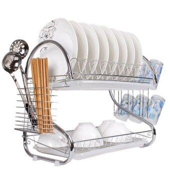 Harga Sellzone Stainless Steel Double Dish Drainer Silver
