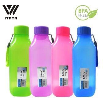 Harga [Set of 4] 7.5*7.5*24.5cm High Quality 1.2L BPA Free Water Bottle (Blue, Purple, Pink, Green)