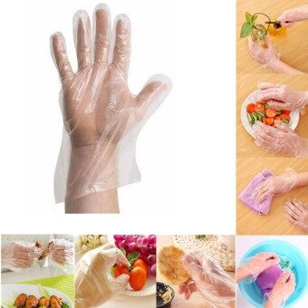 Harga 100pcs Plastic Disposable Gloves Restaurant Home Service Catering Hygiene