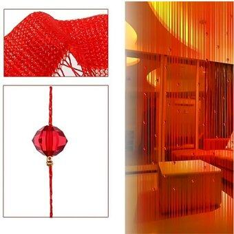 Imitation Crystal Beaded Tassel String Curtain Door Window HomeDecor Divider 1 x 2M Red