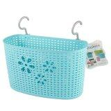 (LZ) Imitation Rattan Hanging Basket Hook Drainer - Large (Blue)