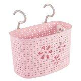 (LZ) Imitation Rattan Hanging Basket Hook Drainer - Large (Pink)