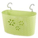 (LZ) Imitation Rattan Hanging Basket Hook Drainer - Medium (Green)