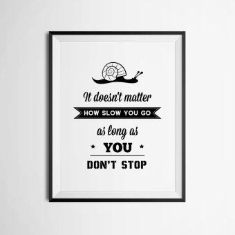 Harga Inspiration Quote Wall Art Print Poster, Wall Pictures For HomeDecoration, Frame Not Include Canvas Art FA359