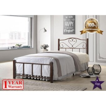 Harga iNSTAR DESIGN ALICE SINGLE METAL BED FRAME (COPPER)