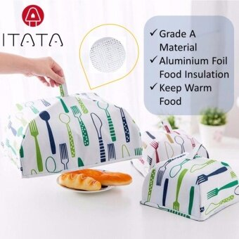 Harga ITATA 36*36cm Food Covers Folding Insulated Food Cover With Aluminum Foil Food Insulation Cover Table Cover Hot Vegetable Insulation Cover