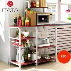 Itata 90 42 131cm Kitchen Shelf Microwave Oven Multi Frame Floor Storage