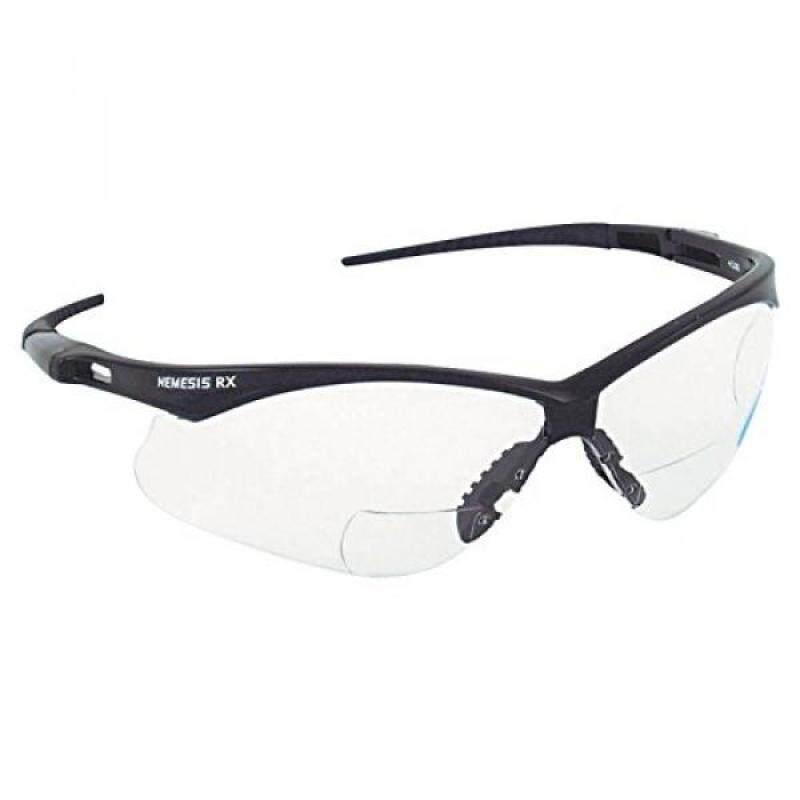 Jackson Safety 28621 V60 Nemesis RX Safety Eyewear, +1.5 Diopter Polycarp Anti-Scratch Lenses, Black