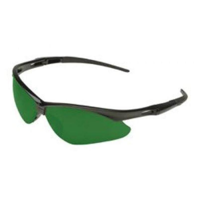 Jackson Safety 3004761 Nemesis Cutting Safety Glasses Black Frame / IRUV 5.0 Shade Green Lens (19860)
