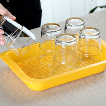 Japan Imports Inomata cup drain pan cups drain water storage racktray tea storage compartment Plate