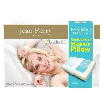 Jean Perry Ecohealth Bamboo Charcoal Contour Gel Memory Pillow