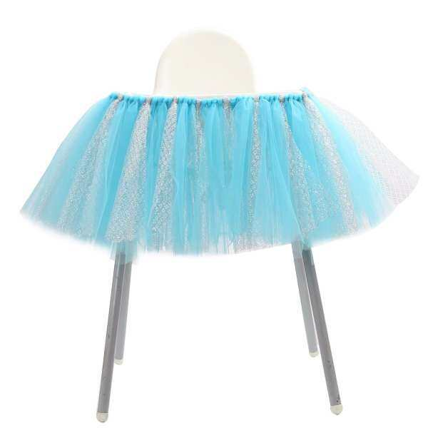 welovestore JNSS Adjustable Tutu Tulle Skirt Wrap For High Chair Baby Shower 1st Birthday Decor - intl