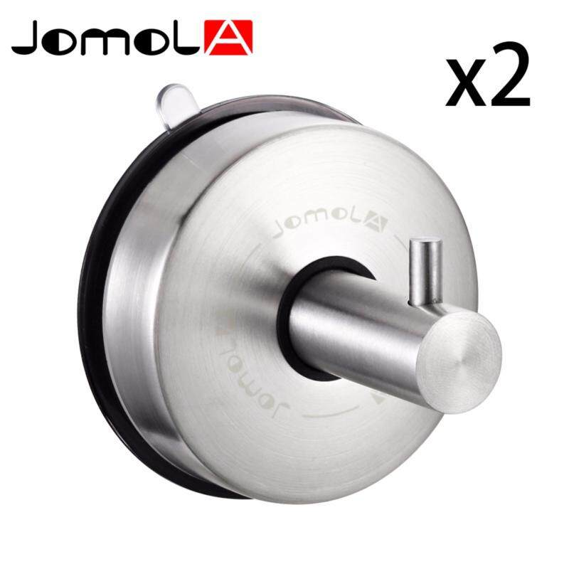 Buy JOMOLA SUS 304 Stainless Steel Suction Cup Hook Single Coat Hook Removable Bathroom Shower Towel Hook Kitchen Wall Hook Strong and Heavy Duty Contemporary Style Brushed Finish Malaysia