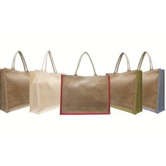 Harga Jute Bag / Jute Shoulder Bag / Shopping Bag (B0077) - 2pcs