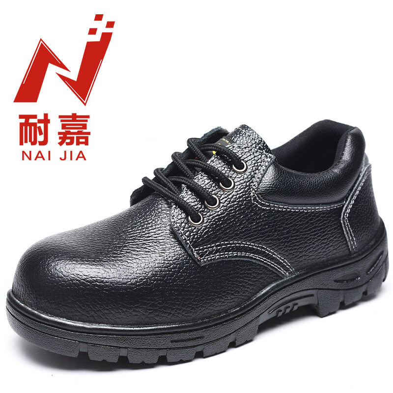 -Ka leather safety shoes four eye protective shoes steel toe safety shoes anti-smashing anti-piercing work shoes couple shoes