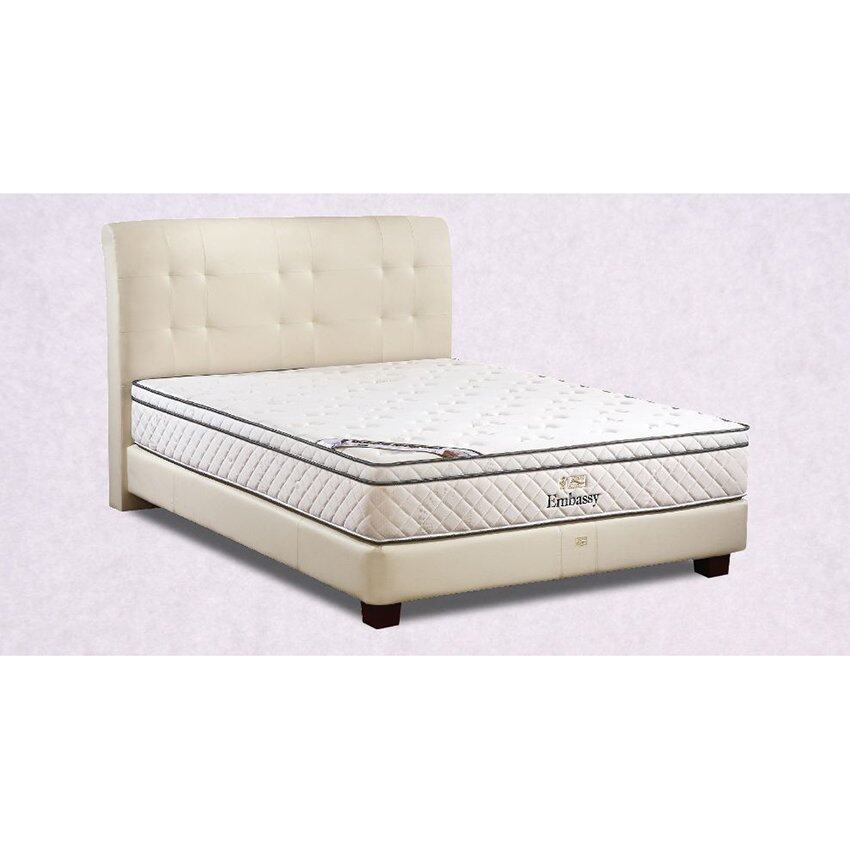 King Koil Embassy 11 inch Chiropractic Spring Mattress (10 Years Warranty) White