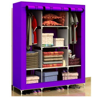 King Size Multifunctional Wardrobe Purple (2 Units)