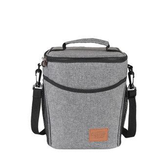 KINNET Doliform Waterproof Insulated Thermos Thermal Cooler ToteLunch Bag Picnic Bag Hot Bag Cooler Bag with Detachable Shoulder9L(Heather Grey)