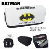 ซื้อ Kisnow Anime Multifunctional Double Zipper Canvas Pencil Bag Handbag Purses Pencil Boxes Color Batman ใหม่ล่าสุด