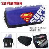 ราคา Kisnow Anime Multifunctional Double Zipper Canvas Pencil Bag Handbag Purses Pencil Boxes Color Superman ออนไลน์ จีน