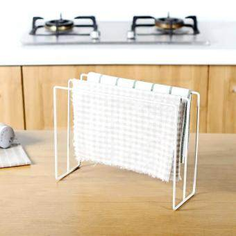 Kitchen Japanese-style wrought iron cloth rack dish cloth scouring pad drain water storage rack cloth drying rust-proof storage rack