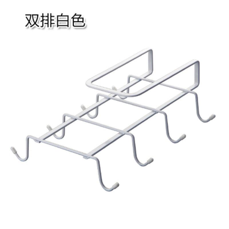 Buy Kitchen shelving racks wall rack storage rack wrought iron kitchen cabinet rack free nail wardrobe hangers ornaments pendant hook Malaysia