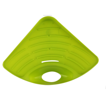 Kitchen Storage Sink Corner Triangle Rack Stable Suction (Green)