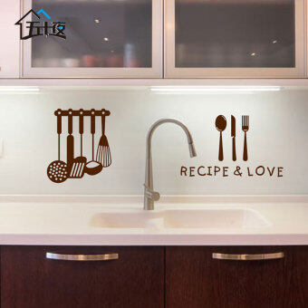 Harga Kitchen tableware environmental tasteless door fun decorative wall stickers