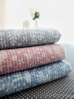 [Korea purchasing Home] leaves pattern Native Cotton quilted airconditioning blanket/three color into j014
