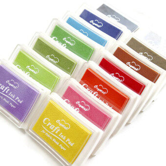 Harga Korean Oil Based Colour Stamp Pad Set (15 Colours)