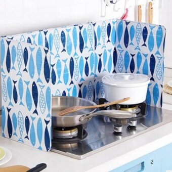 Harga Kuhong Kitchen Oil Aluminium Foil Plate Gas Stove Oil SplatterScreens Kitchen Tools Cooking Insulate Splash Proof H02