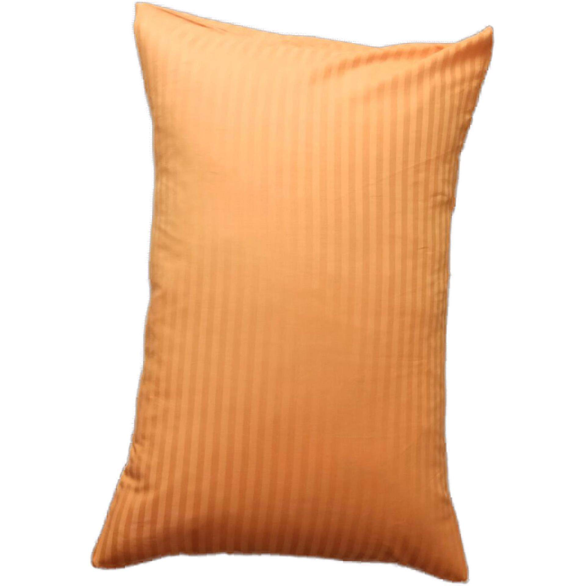 Ladubee Head Pillow Cover in (Orange Satin Stripes)