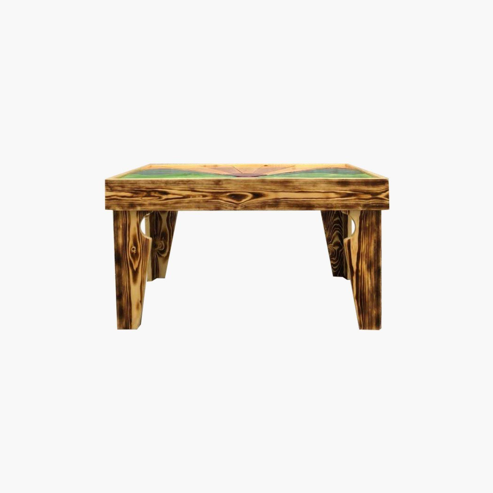 Ladubee Pine Wood Coffee Table (Shoji Forest) (3ft x 2ft x 1.5ft)