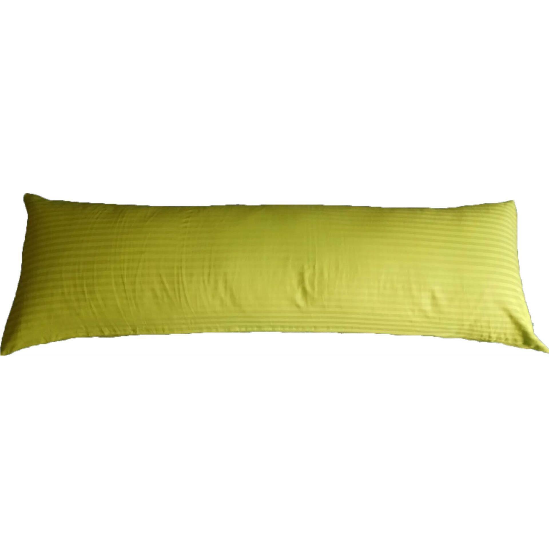 Ladubee premium Body Pillow Cover (Green Satin Stripes)
