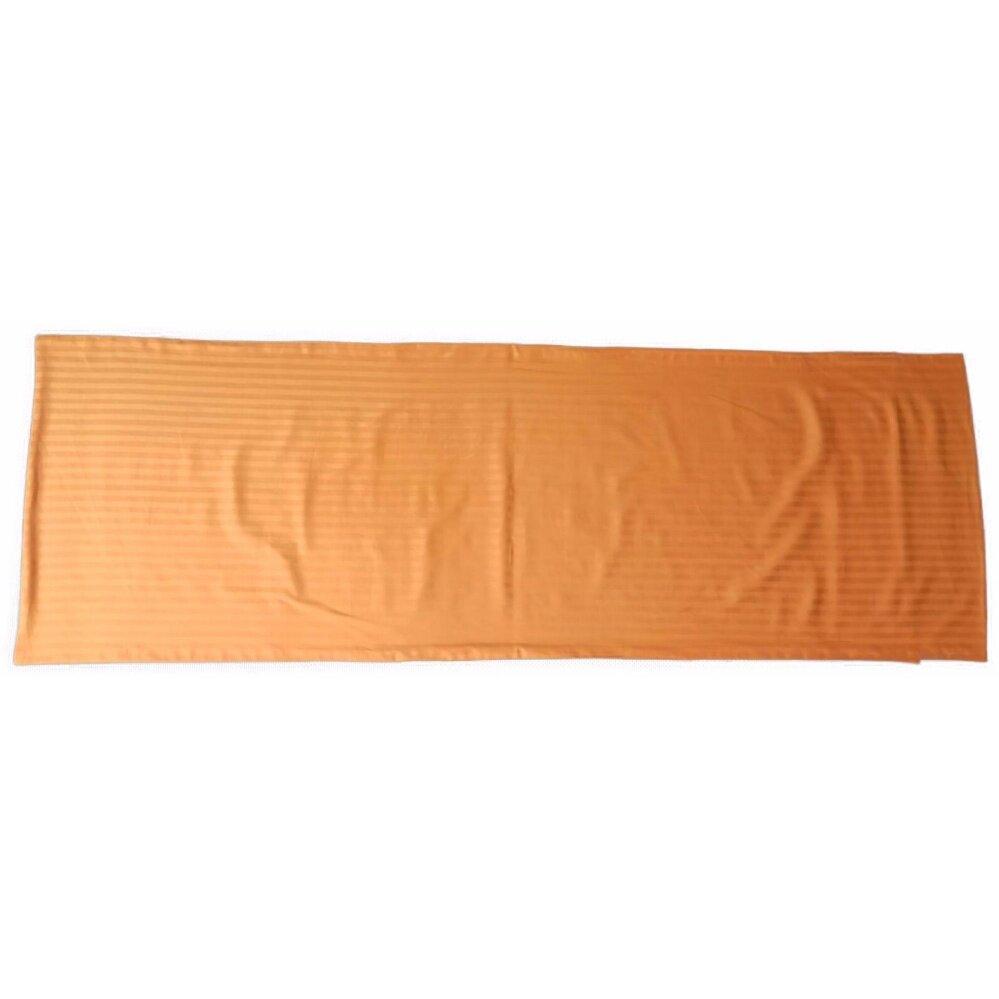 Ladubee premium Body Pillow Cover (Orange Satin Stripes)