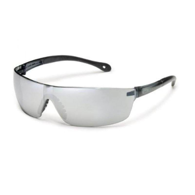 [lamore]Gateway Safety 448M StarLite Squared Ultra-Light Safety Glasses, Silver Mirror Lens, Gray Temple (Pack of 10)