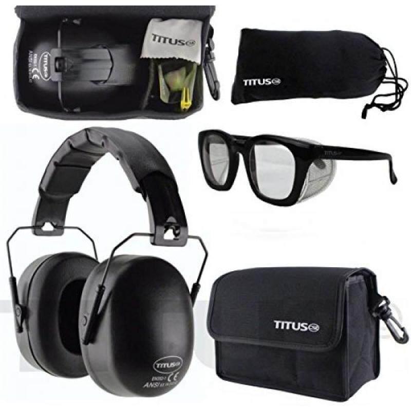 Buy [lamore]TITUS 37 Decibel NRR Black Safety Earmuffs & Glasses Combo Malaysia