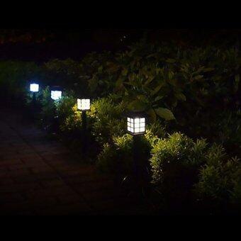 LCD Solar Power LED Yard Lawn Light Party Path Spotlight GardenLamp (White)
