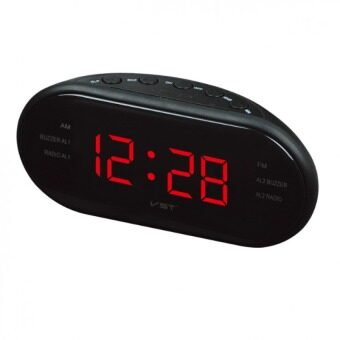 LED Alarm Clock Radio Digital AM/FM Radio With EU Plug (Black)