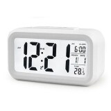 LED Smart Alarm Clock- White
