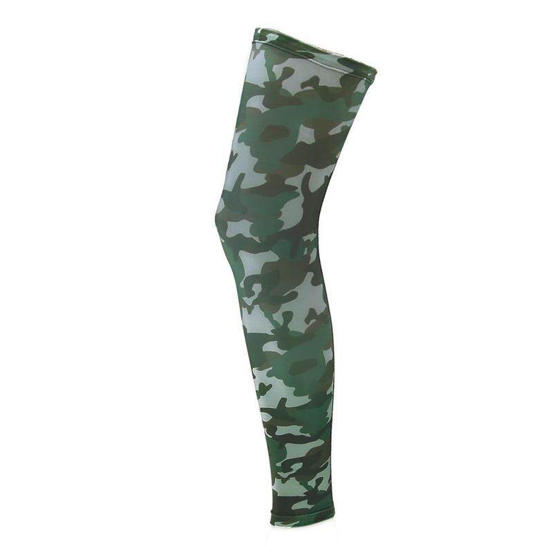 Leg Guard Camouflage Elastic Breathable Riding Outdoors Sports Protector(Green)-M