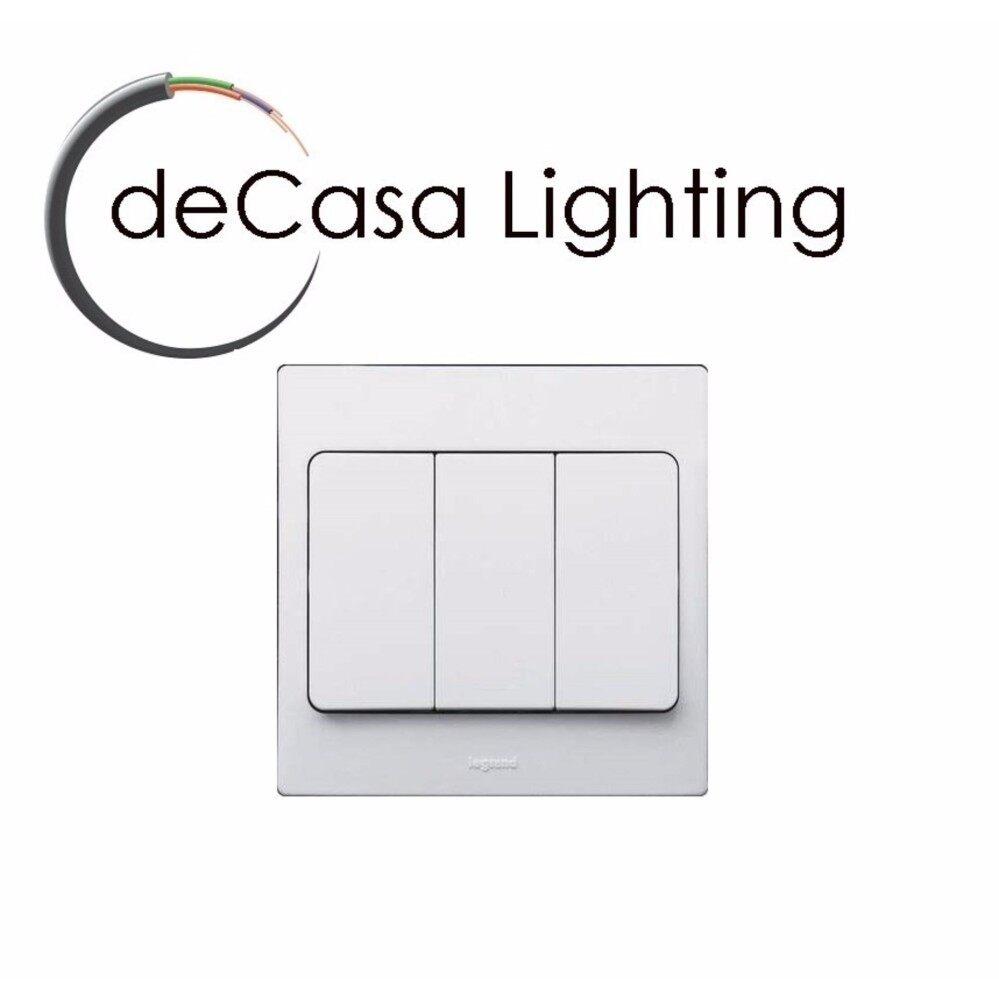 Legrand Mallia 3gang 2 Way Switch White Decasa