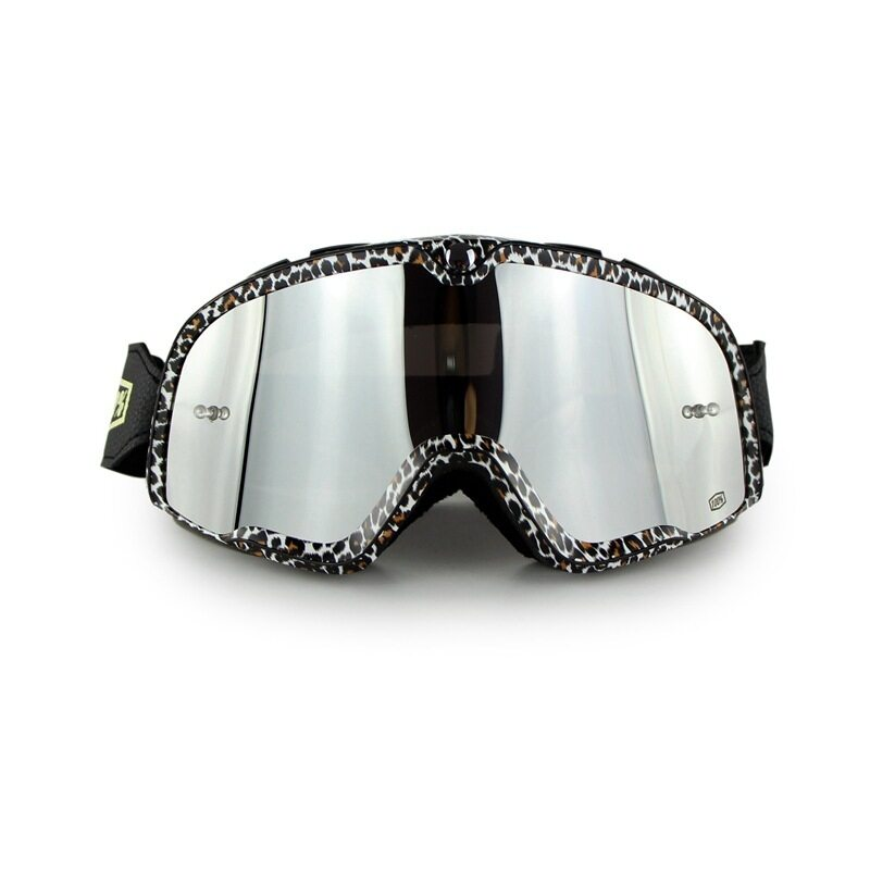 Leifen New high-grade retro goggles silver lens outdoor motorcycle riding cross-country ski anti-fog goggles Harley-goggles suit anti-dust anti-sand anti-glare riding protective equipment