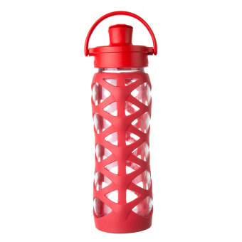 Harga Lifefactory Glass Bottle - 22oz (650ml) - Active Flip Cap -(Charged Red)
