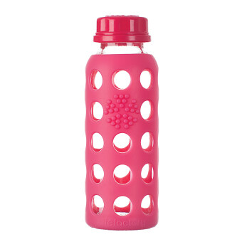 Harga Lifefactory Glass Bottle - 9oz (250ml) - Flat Cap - (Raspberry)