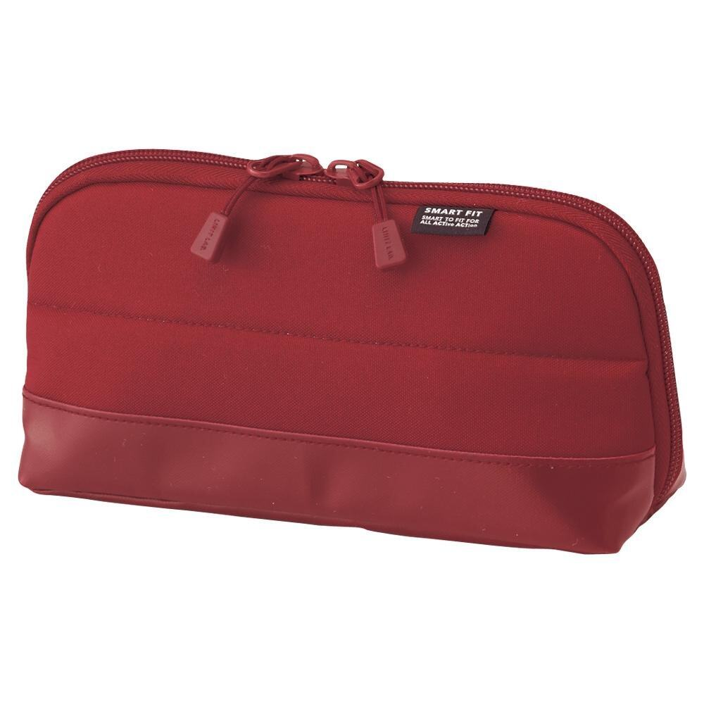 Lihit Lab Smart Fit Actact Wide Open Pen Case (Red)